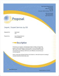 Proposal submission cover letter sample